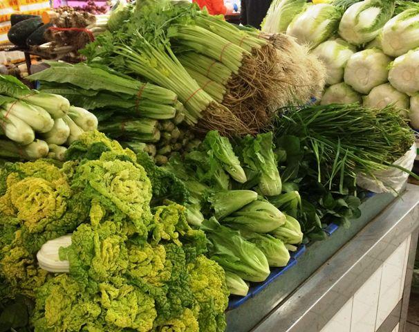 中国の市場で売っていた野菜
